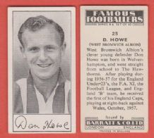 West Bromwich Albion Don Howe England